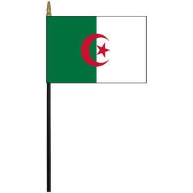 "algeria 4"" x 6"" staff mounted rayon flag"