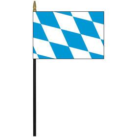 "bavaria 4"" x 6"" staff mounted rayon flag"