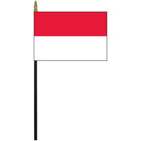 """monaco 4"""" x 6"""" staff mounted rayon flag"""