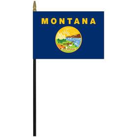 """montana 4"""" x 6"""" staff mounted rayon flag"""