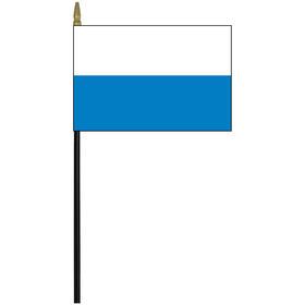 "san marino 4"" x 6"" staff mounted rayon flag"