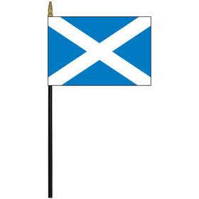 "scotland w/ cross 4"" x 6"" staff mounted rayon flag"