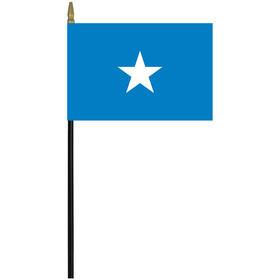 """somalia 4"""" x 6"""" staff mounted rayon flag"""