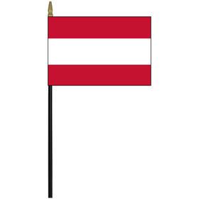 "tahiti 4"" x 6"" staff mounted rayon flag"