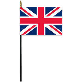 "united kingdom 4"" x 6"" staff mounted rayon flag"