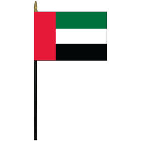 "united arab emirates 4"" x 6"" staff mounted rayon flag"