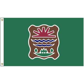 4' x 6' abenaki tribe flag w/ heading & grommets