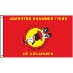 4' x 6' absentee tribe flag w/ heading & grommets