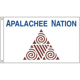 4' x 6' apalachee tribe flag w/ heading & grommets