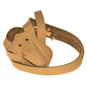 single harness leather carrying belts  tan