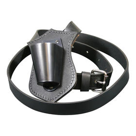 Single Harness Leather Carrying Belts  Black