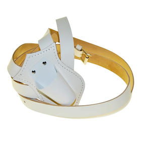 single harness leather carrying belts  white