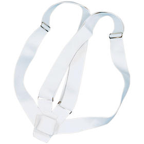 double harness carrying belts  white webbing