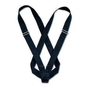 double harness carrying belts  black webbing