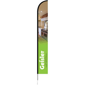 15' single reverse portable half drop banner w/ hardware set