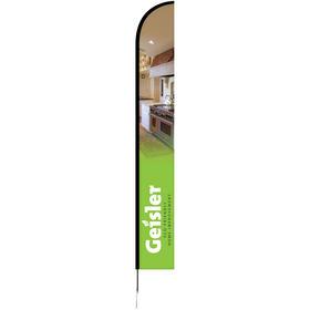 15' Single Reverse Portable Half Drop Banner w/ Hardware Set