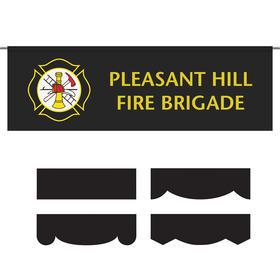 2.5' x 8' parade lead banner - no fringe