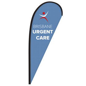 8' Digitally Printed Single Reverse Teardrop Banner
