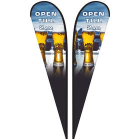 15' Double Sided Custom Portable Teardrop Banners