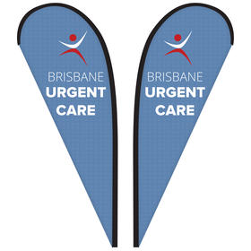 8' Double Sided Custom Portable Teardrop Banners