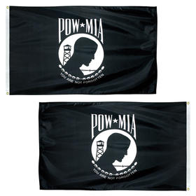 3' x 5' pow-mia double sided economy polyester flag