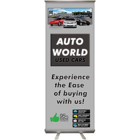 "24'' x 63"" custom retractable banner stand"