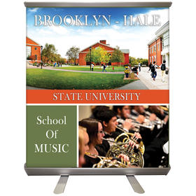 "32'' x 36"" custom retractable banner stand"