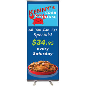 "32'' x 79"" custom retractable banner stand"