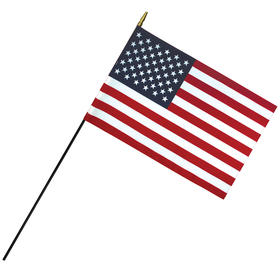 "12"" x 18"" Deluxe Polyester U.S. Stick Flag on a 3/8"" Dowel"