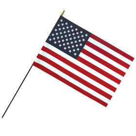 "24"" x 36"" deluxe polyester u.s. stick flag on a 7/16"" dowel"