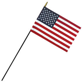 """8""""x 12"""" deluxe polyester u.s. stick flag on a 1/4"""" dowel"""