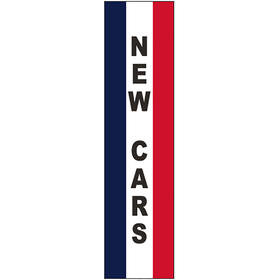 3' x 12' Message Square Flag - New Cars