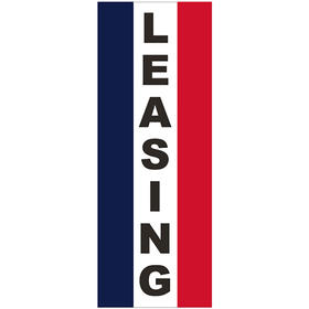 3' x 8' Message Square Flag - Leasing