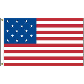 star spangled 2' x 3' outdoor nylon printed flag