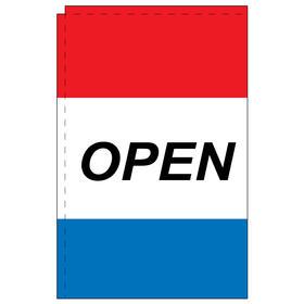 open 2.5' x 5' windchaser horizontal message flag