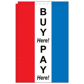 buy here 2.5' x 5' windchaser vertical message flag