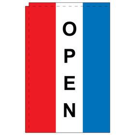 open 2.5' x 5' windchaser vertical message flag