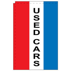 used cars 2.5' x 5' windchaser vertical message flag