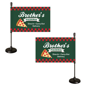 Custom Magnetic Car Flags - Double Sided