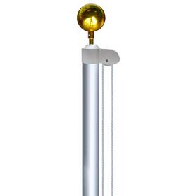 20' aluminum sectional flagpole