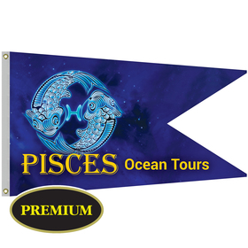 """36"""" x 60"""" Single Reverse Knitted Polyester Swallowtail Boat Flag"""