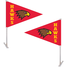 "11.5"" x 15"" Double Sided Pennant Style Custom Car Flag"