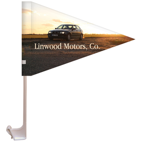 "7.5"" x 10.5"" Single Reverse Pennant Style Custom Car Flag"
