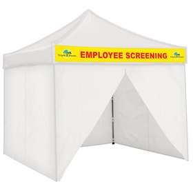Fully Enclosed Tent with Detachable Graphic