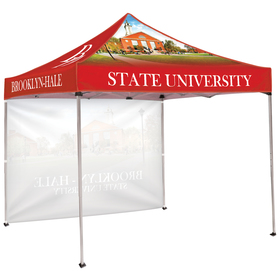 10' square tent with one full wall