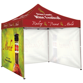 10' square tent with three full walls