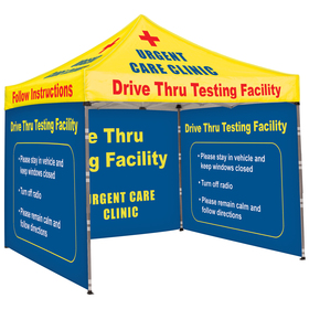 10' Square Tent With Three Full Double Sided Walls