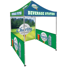 6.5' Square Canopy Tent With 1 Full Double Sided Wall & 2 Double Sided Half Walls