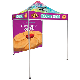6.5' Square Canopy Tent With 1 Full Double-Sided Wall