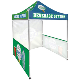 6.5' Square Canopy Tent With 1 Full Single-Sided Wall & 2 Single-Sided Half Walls